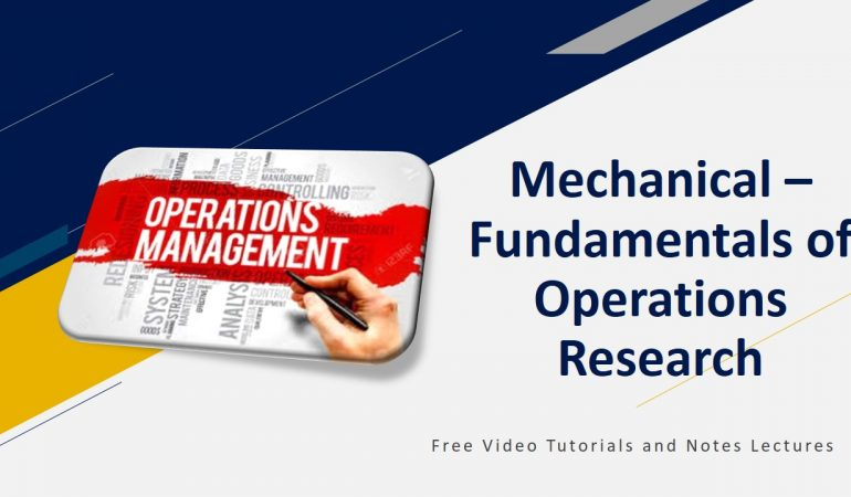 Fundamentals of Operations Research
